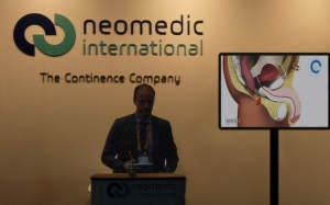 Presentation in the EAU Annual Congress 2013 in Milan of the Male Remeex System (MRS) Re-adjustable sling for Male SUI